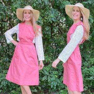 Vintage Pink Volunteer Nurse Pinafore Dress Sz. 32